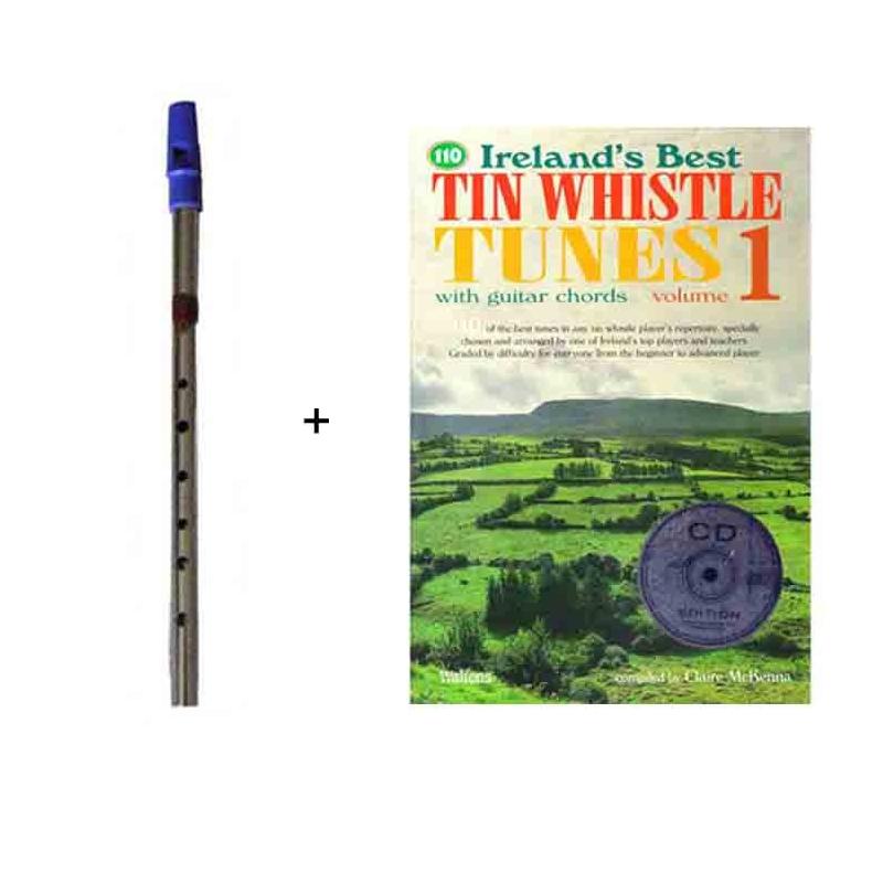 Pack flute whistle + partitions avec CD
