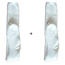 Lot de 2 paires de chaussettes laine Mac Callum écru