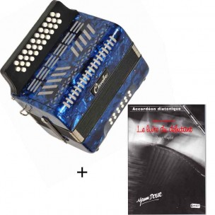 Pack accordéon diatonique 12 basses + méthode