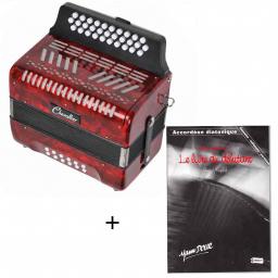 Pack accordéon diatonique 12 basses + méthode
