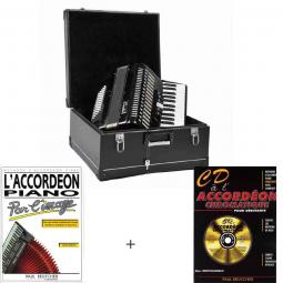 Pack accordéon chromatique et méthodes d'apprentissage
