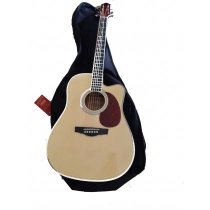 Guitare Chapel électro-acoustique avec housse