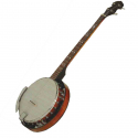 instruments de musique country: banjo, violon, harmonica, guitare
